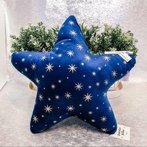 Bullseye Playground blue star pillow